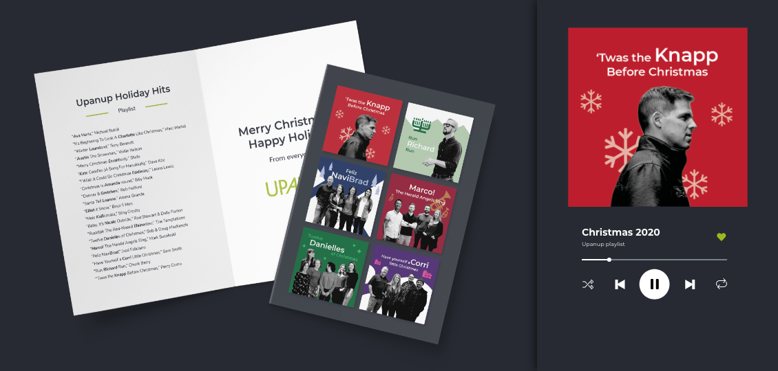 Views of Upanup's holiday card