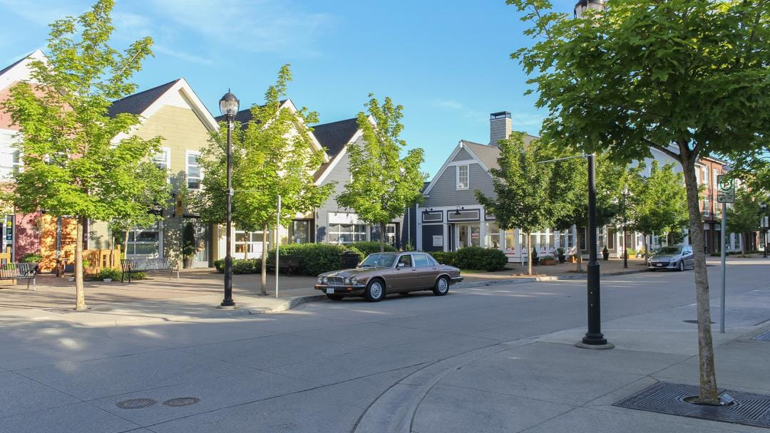 Residential street in Pitt Meadows, BC
