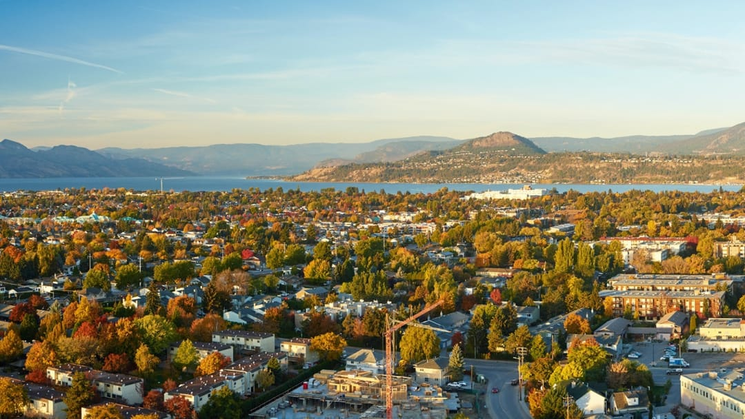 Panoramic view of Kelowna