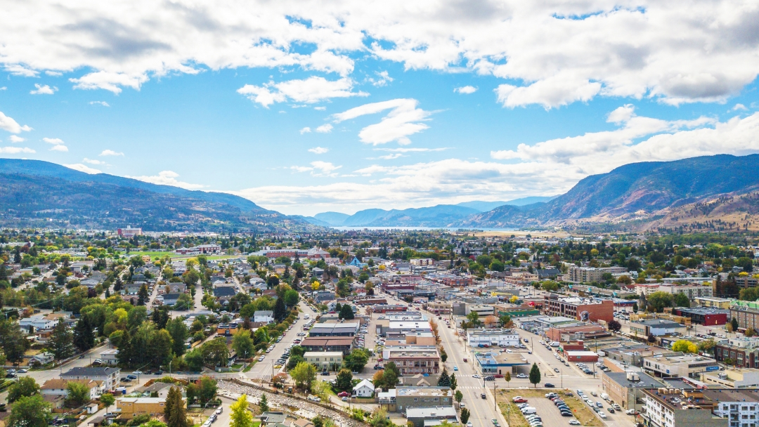 Aerial view of City of Penticton