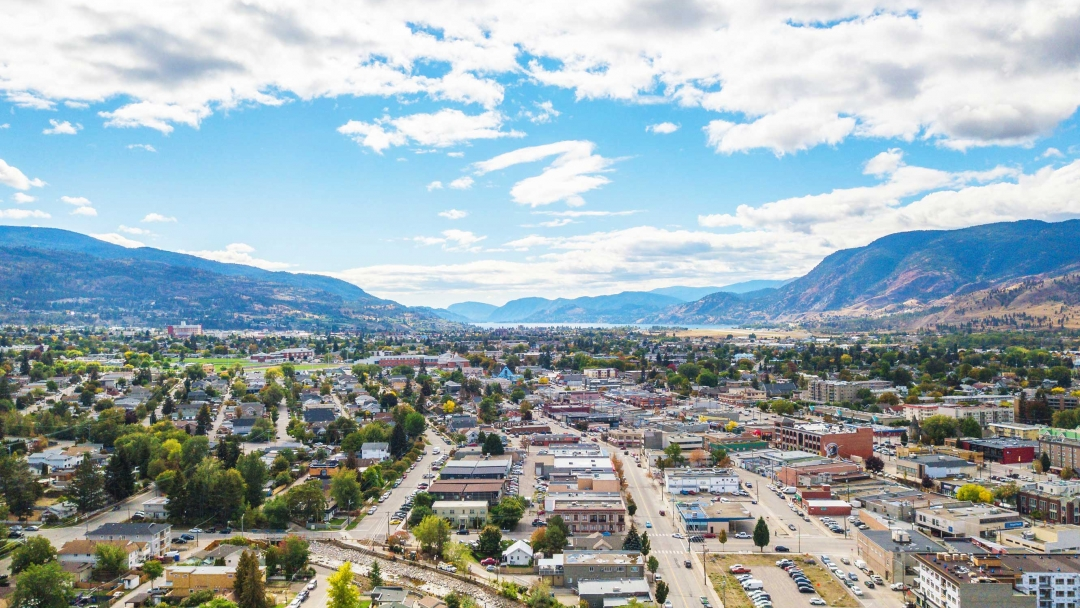 Penticton from above