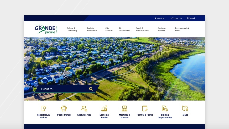Grande Prairie website screenshot