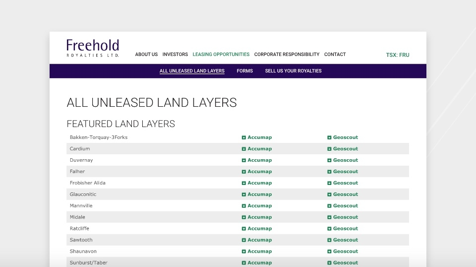 Freehold website screenshot